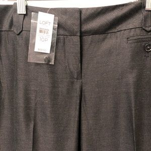 NWT loft Julie black gray trousers pants 10p 10